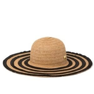 Betsey Johnson Friged Floppy Hat